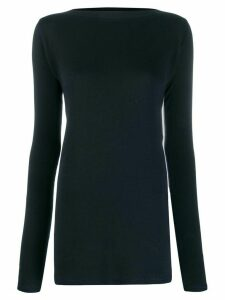Jil Sander boat neck long-sleeved top - 401 Dark Blue