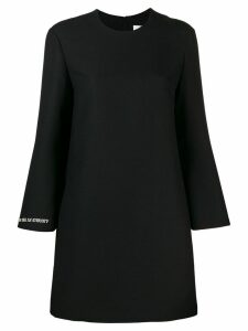 Valentino slogan detail short dress - Black