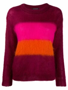 Luisa Cerano striped knit jumper - Purple