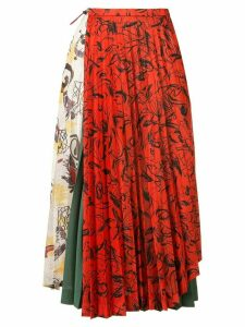Toga abstract print pleated skirt - Red