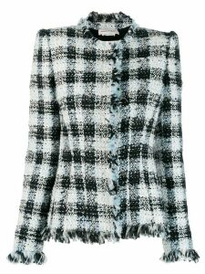 Alexander McQueen boucle fitted jacket - White