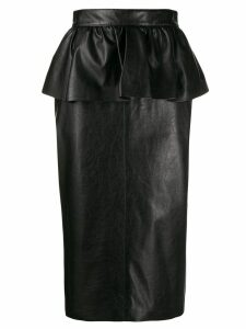MSGM peplum pencil skirt - Black