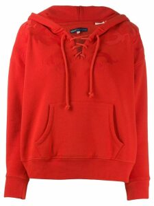 Levi's lace-up neck hoodie - Red