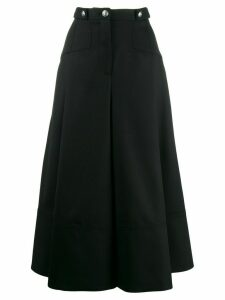 Alexander McQueen midi pleated skirt - Black