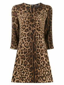 Dolce & Gabbana leopard print dress - Neutrals