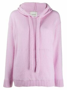 Laneus cashmere knitted hoody - Pink