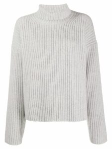 Joseph ribbed turtle neck jumper - Grey