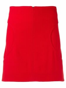 Courrèges curved pocket skirt - Red