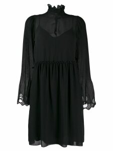 See By Chloé embroidered georgette dress - Black