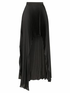 Stella McCartney pleated asymmetric open-front skirt - Black