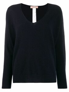 Twin-Set oversized V-neck jumper - Blue