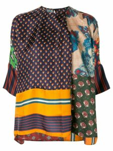 Biyan patchwork tunic top - Multicolour