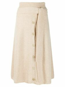 Joseph Knitted midi skirt - NEUTRALS