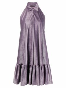 Talbot Runhof satin corduroy dress - Purple