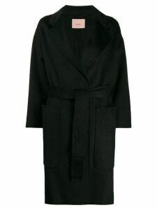 Twin-Set wrap-style midi coat - Black