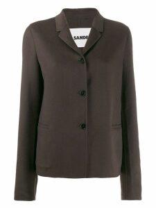 Jil Sander button-up short jacket - Brown