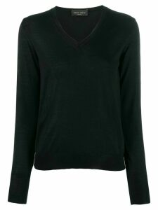 Roberto Collina v-neck knit top - Black