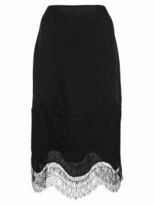 Kiki de Montparnasse lace-detail skirt - Black