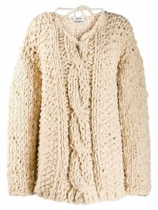 Acne Studios loose weave cable knit jumper - Neutrals
