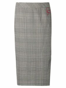 Twin-Set embroidered Glen skirt - Grey