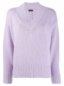 Joseph V-neck knitted sweater - PURPLE