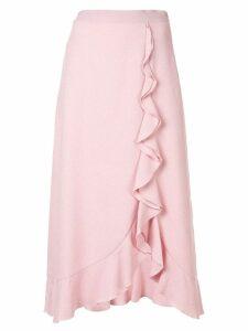Giambattista Valli ruffle trim midi skirt - Pink