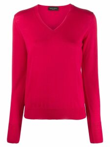 Roberto Collina v-neck knit top - Pink