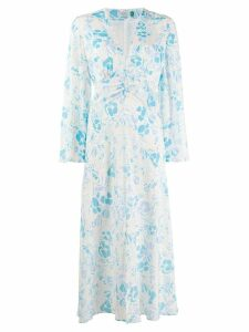 Rixo floral-print midi dress - Blue