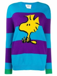 Chinti & Parker striped snoopy jumper - Blue