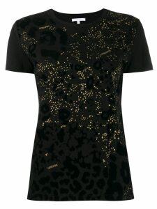 Patrizia Pepe rhinestone-embellished T-shirt - Black