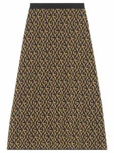 Gucci G rhombus lamé jacquard skirt - Black