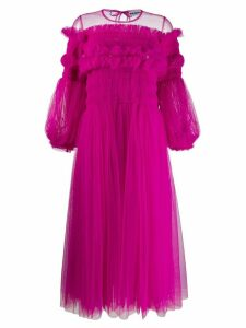 Molly Goddard tulle ruffled midi dress - Pink