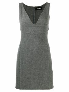 Dsquared2 V-plunge mini dress - Grey