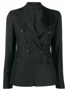 Tagliatore pinstripe fitted blazer - Grey