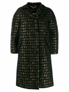 Moschino roman embroidered button-up coat - Black