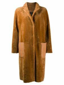 Fabiana Filippi oversized shearling coat - Brown