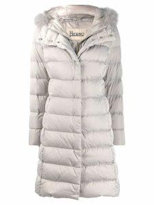 Herno fur trimmed padded coat - Grey