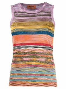 Missoni glitter striped tank top - Yellow