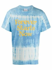 Nasaseasons Forever Starts Now print T-shirt - Blue