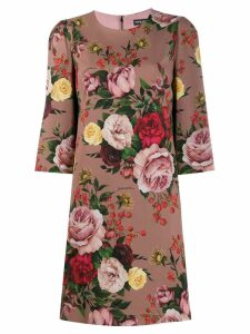 Dolce & Gabbana floral print shift dress - Pink