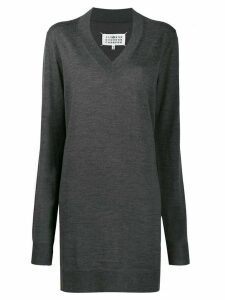 Maison Margiela V-neck knitted dress - Grey