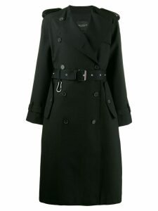 Erika Cavallini double breasted coat - Black
