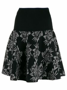 Roland Mouret two tone printed skirt - Black