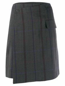 Acne Studios striped mini skirt - Grey