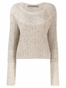 Raquel Allegra cropped knit jumper - Neutrals