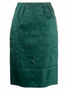 Nº21 crinkled effect pencil skirt - Green