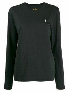 Polo Ralph Lauren embroidered logo longsleeved T-shirt - Black