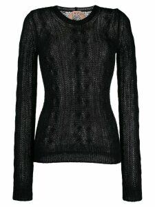 Nº21 round neck jumper - Black