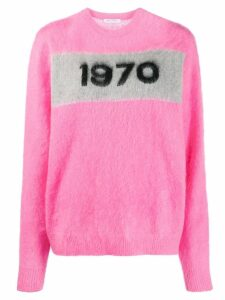 Bella Freud '1970' crew neck jumper - Pink