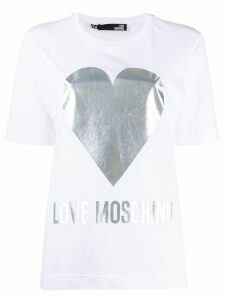 Love Moschino printed logo T-shirt - White